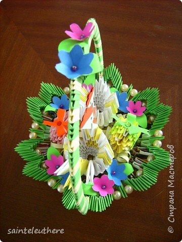 Оригами модульное: пасхальная композиция фото 2