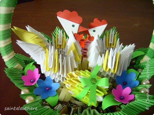 Оригами модульное: пасхальная композиция фото 5