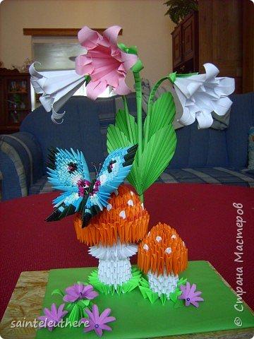 Оригами модульное: на лесной опушке