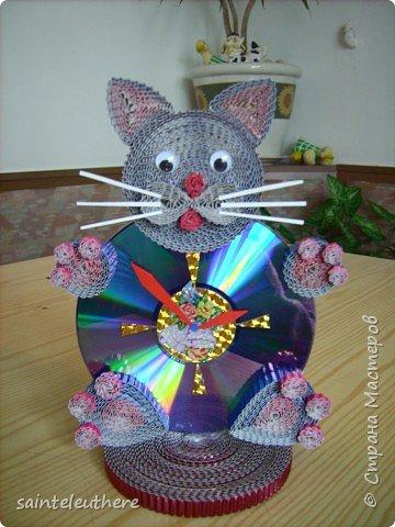 Квиллинг: котик фото 1