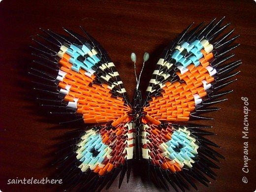 Оригами модульное: бабочки фото 4