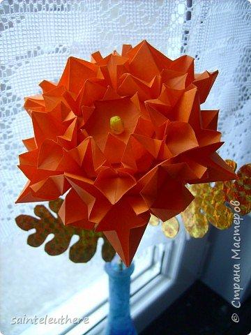 Оригами: хризантема фото 2