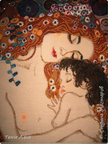 Вышивка крестом: Мать и дитя