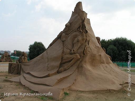 Международный конкурс скульптуры из песка в Коломенском