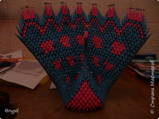 Оригами модульное: Павлины фото 1