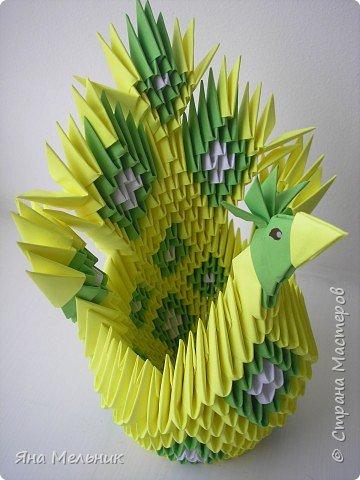 Оригами модульное: птичка