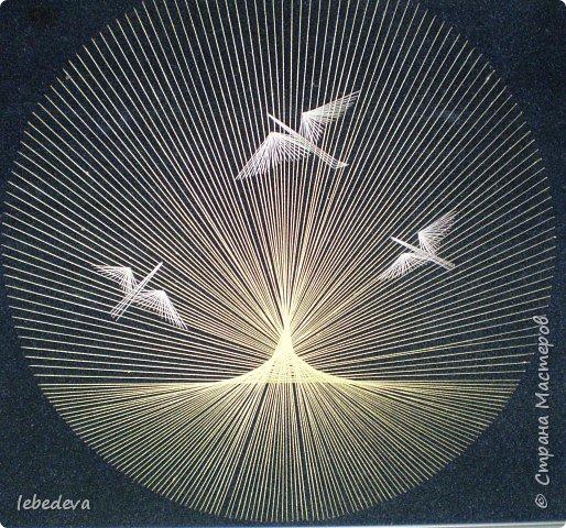 Изонить: Птицы на закате фото 1