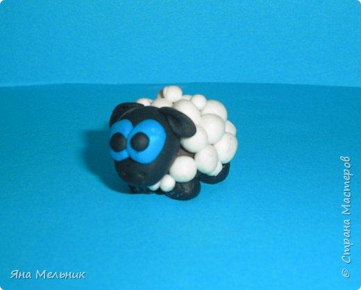 овечка слеплена из пластилиновых шариков фото 1