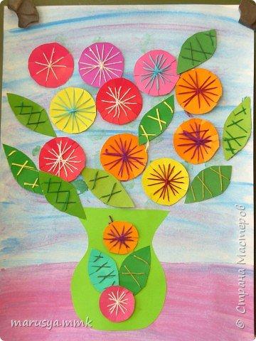 Изонить: Цветы фото 2