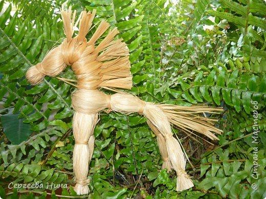 Золотой конь из лыка. фото 1