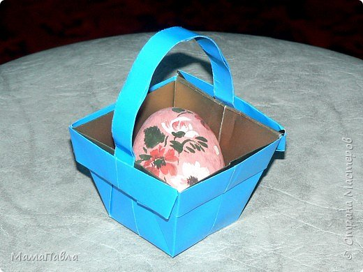 Оригами: Пасхальная корзинка фото 1