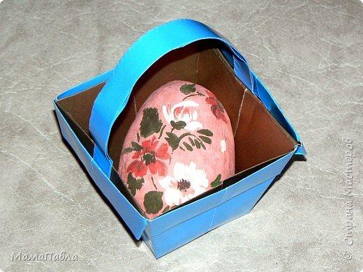 Оригами: Пасхальная корзинка фото 2