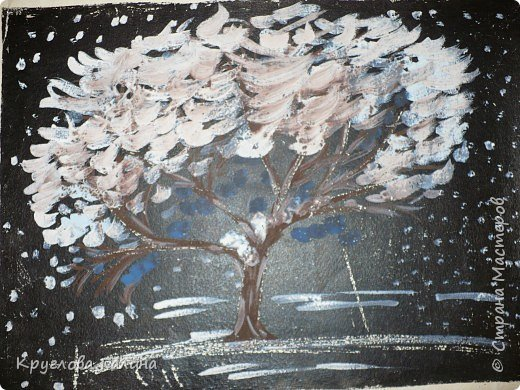 Рисование и живопись: В лесу еще зима