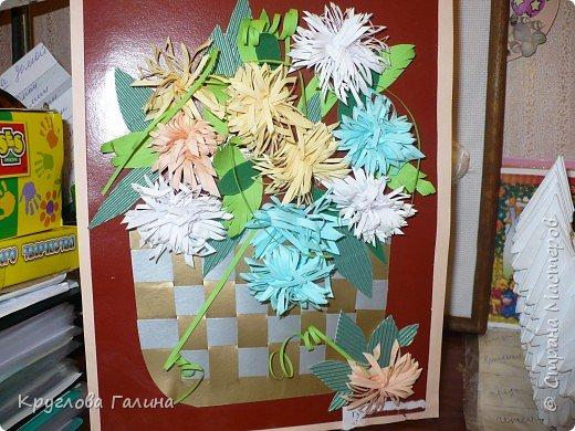 Квиллинг: Корзина с цветами