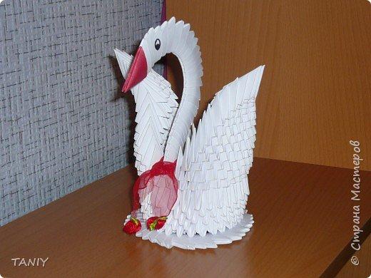Оригами модульное: лебёдушка
