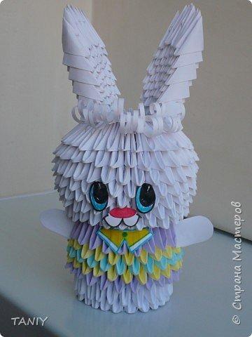 Оригами модульное: Зайчик фото 1