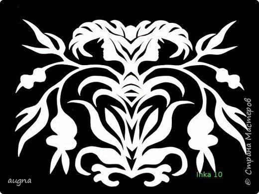 Вырезание симметричное:  Вытынанки фото 5