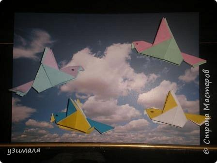 Оригами: Птички