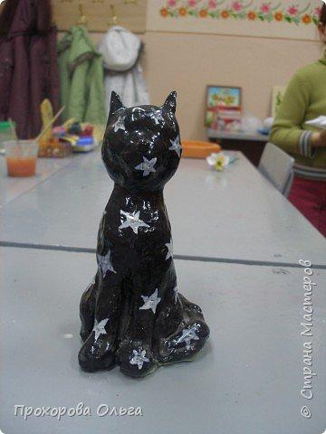 Лепка: Чёрный кот