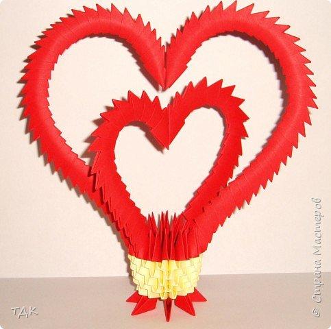 Оригами модульное: Два сердца