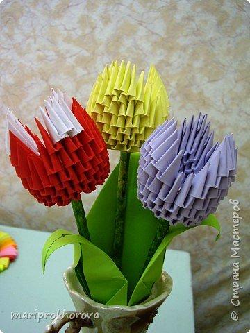 Оригами модульное: Работа моих учеников фото 2