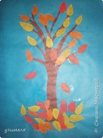 Аппликация: Осеннее дерево