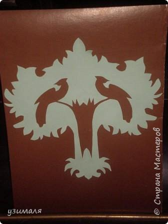 Вытынанка: Дерево с птицами