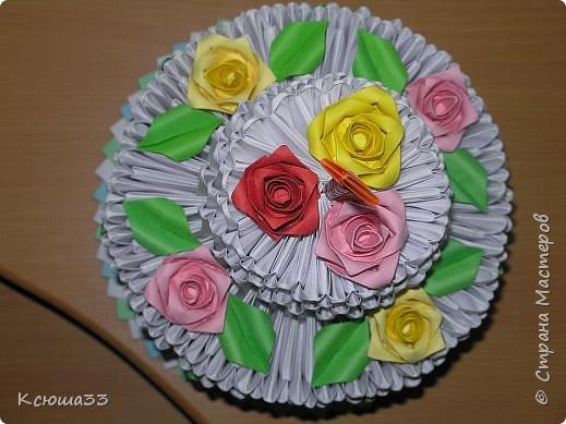 Оригами модульное: Диетический торт. фото 2