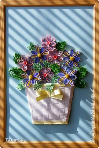 Декор предметов Квиллинг Корзина Бумага