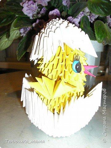 Оригами модульное: Цыпленок фото 1
