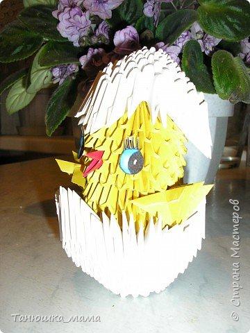 Оригами модульное: Цыпленок фото 3