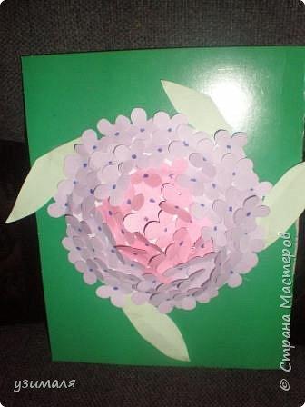Аппликация: Цветок гортензии