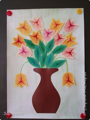 Изонить: Букет тюльпанов