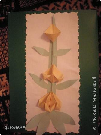 Оригами: Цветок левкоя