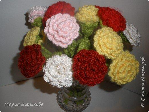Вязание крючком: Букет роз.