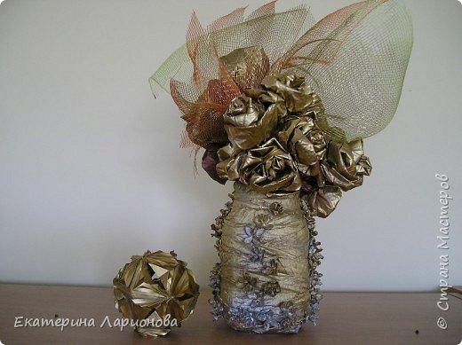 Оригами: Розы из кленовых листьев