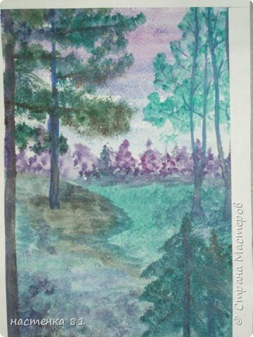 Рисование и живопись: пейзаж в холодных тонах