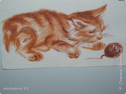 кошка акварелью фото 2