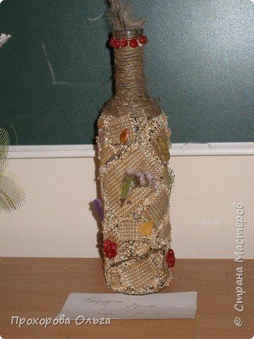 Бутылочка превращается в вазочку