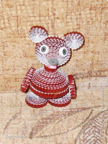Квиллинг: Мишка косолапый.