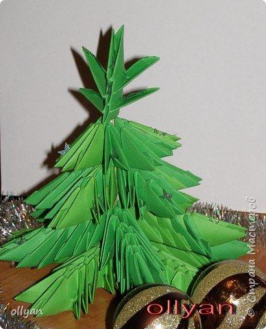 Оригами модульное: Новогодняя ёлочка номер два.