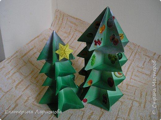 Оригами: Ёлки