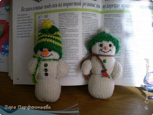 Вязание крючком: Снеговички фото 1