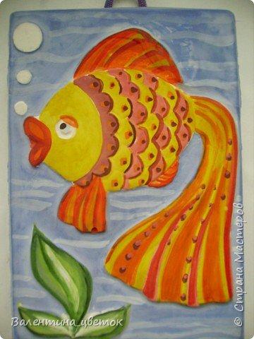 Рыбка_картина из гипса фото 2