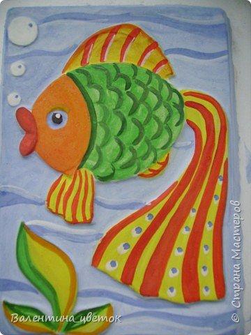 Рыбка_картина из гипса фото 1