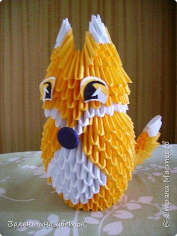 Оригами модульное: Лисичка фото 2