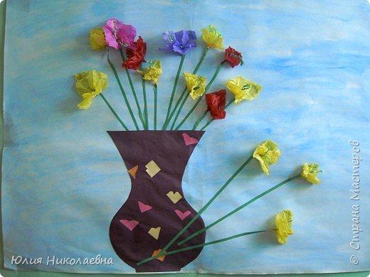 Бумагопластика: Цветы в вазе