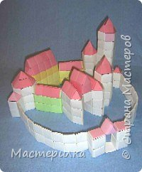 Оригами модульное: Замок фото 1