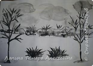 Пейзажи тушью фото 3