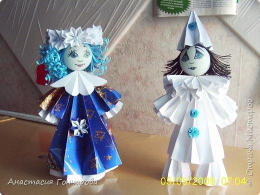 Оригами модульное: Мальвина и Пьеро